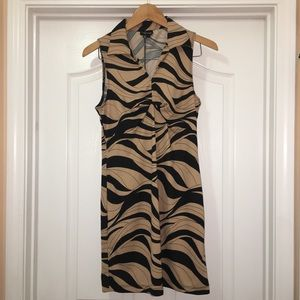 My Michelle Animal Print Collared Dress Size Large